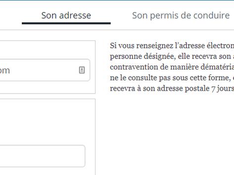 Email + mailing postal pour faire payer les contraventions.