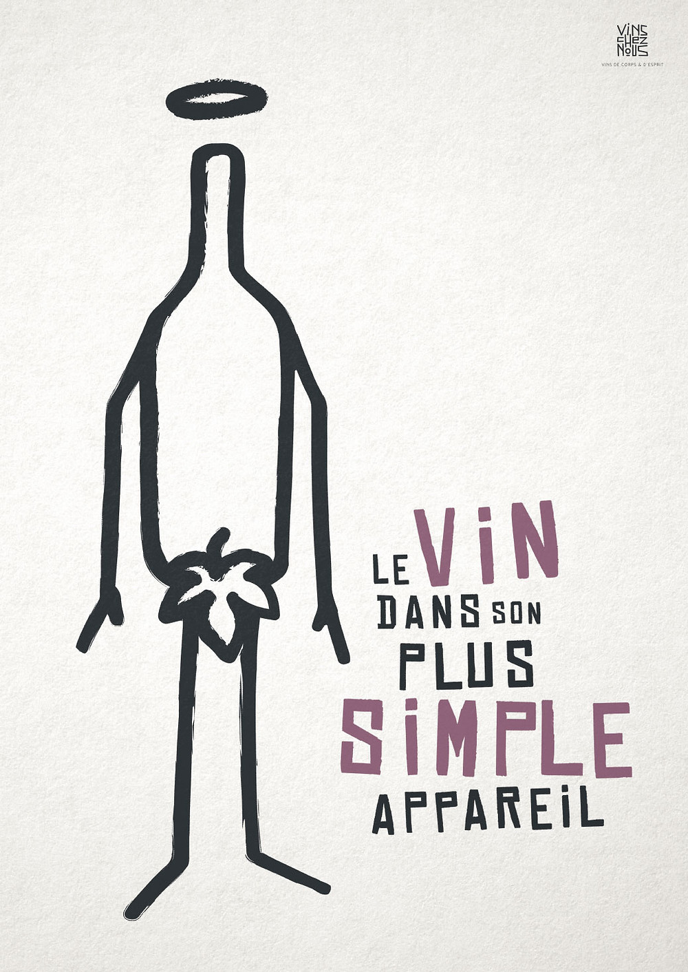 Affiche reçue dans le colis vincheznous.com