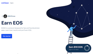 coinbase eos earn learn