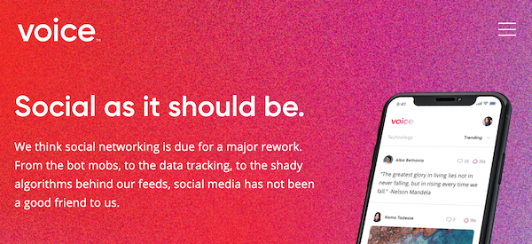 voice eos social media