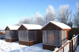 Our Deluxe Chalets in Winter