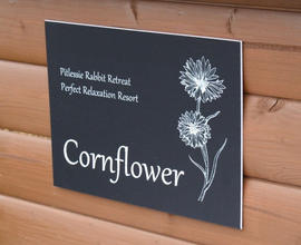 All of our hutches & runs are named after wild flowers.