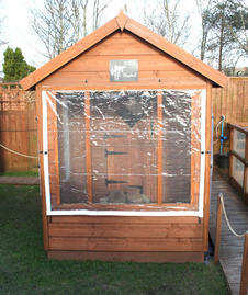 One of our rabbit chalets