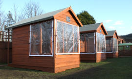 Our three rabbit chalets
