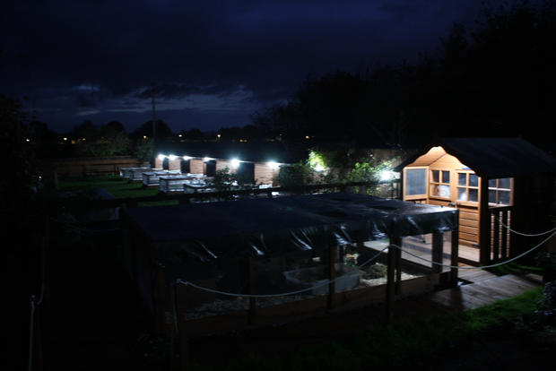The Retreat at night