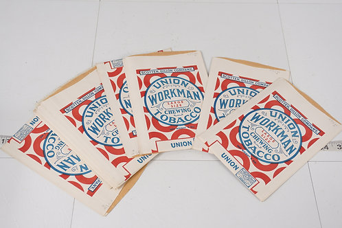 Lot of Union Workman Chewing Tobacco Bags