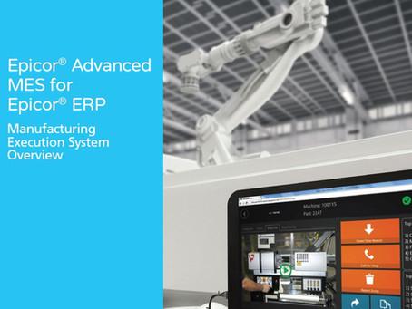 Epicor Advanced MES for Epicor ERP