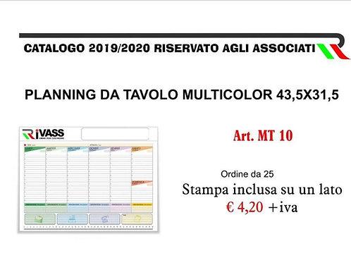 Planning da tavolo multicolor 43,5x31,5
