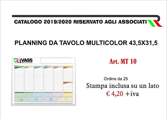 Planning da tavolo multicolor 43,5x31,5