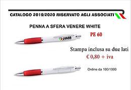 Penna a sfera Venere White
