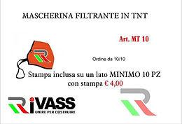 Mascherina filtrante in TNT