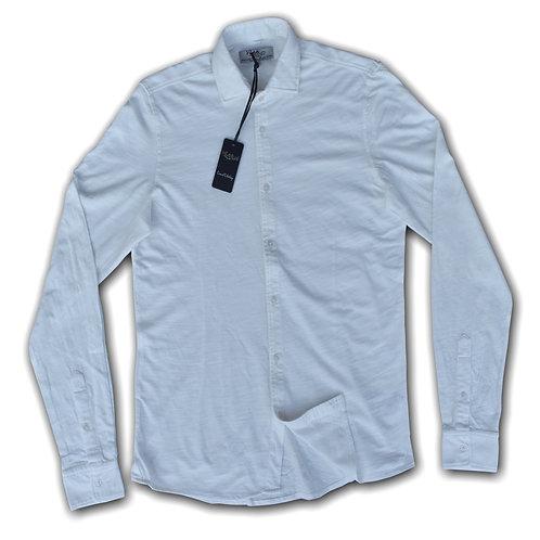 R66 Camicia Jersey Slub Bianco