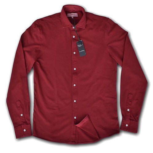 R66 Polo Camicia Piquet Bordeaux