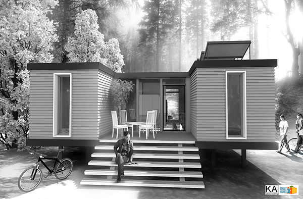 Ponte Vedra Beach, Florida, USA  shipping container home-concept architectural design