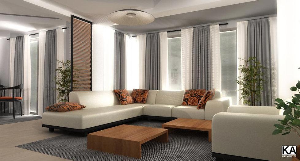 Petrovac na Mlavi, Serbia  private residence dnevna soba interior design