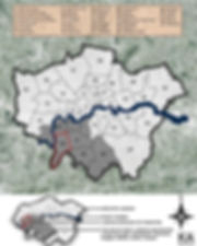 London and Cheshire East, UK spatial planning and urban analysis of health care in South West London and Cheshire East, UK. Kingston Borough, SW London, UK.