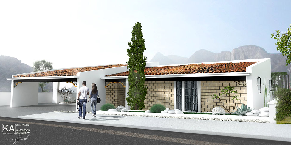 Santiago, Mexico,  Private residence concept architectural design