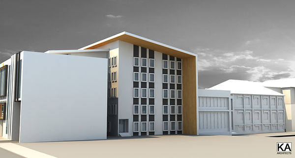 Kragujevac, Srbija extension of medical school for research in the field of genetics architectural design