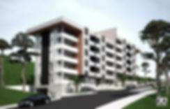Dobrota, Montenegro  -conceptual design architectural esign multifamily building