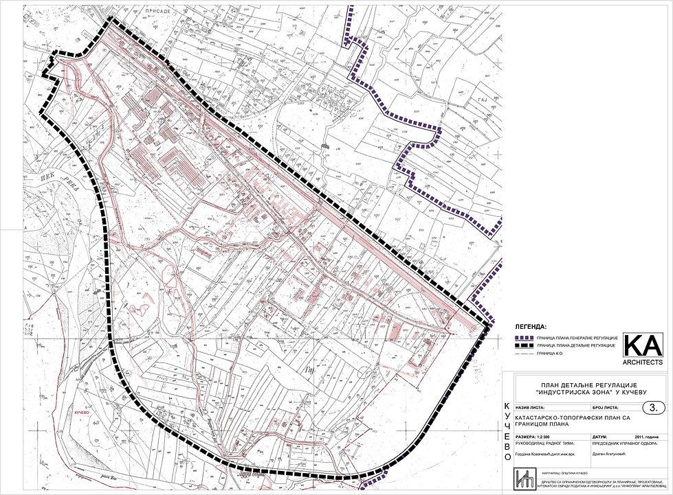Kucevo, Serbia detailed urban plan