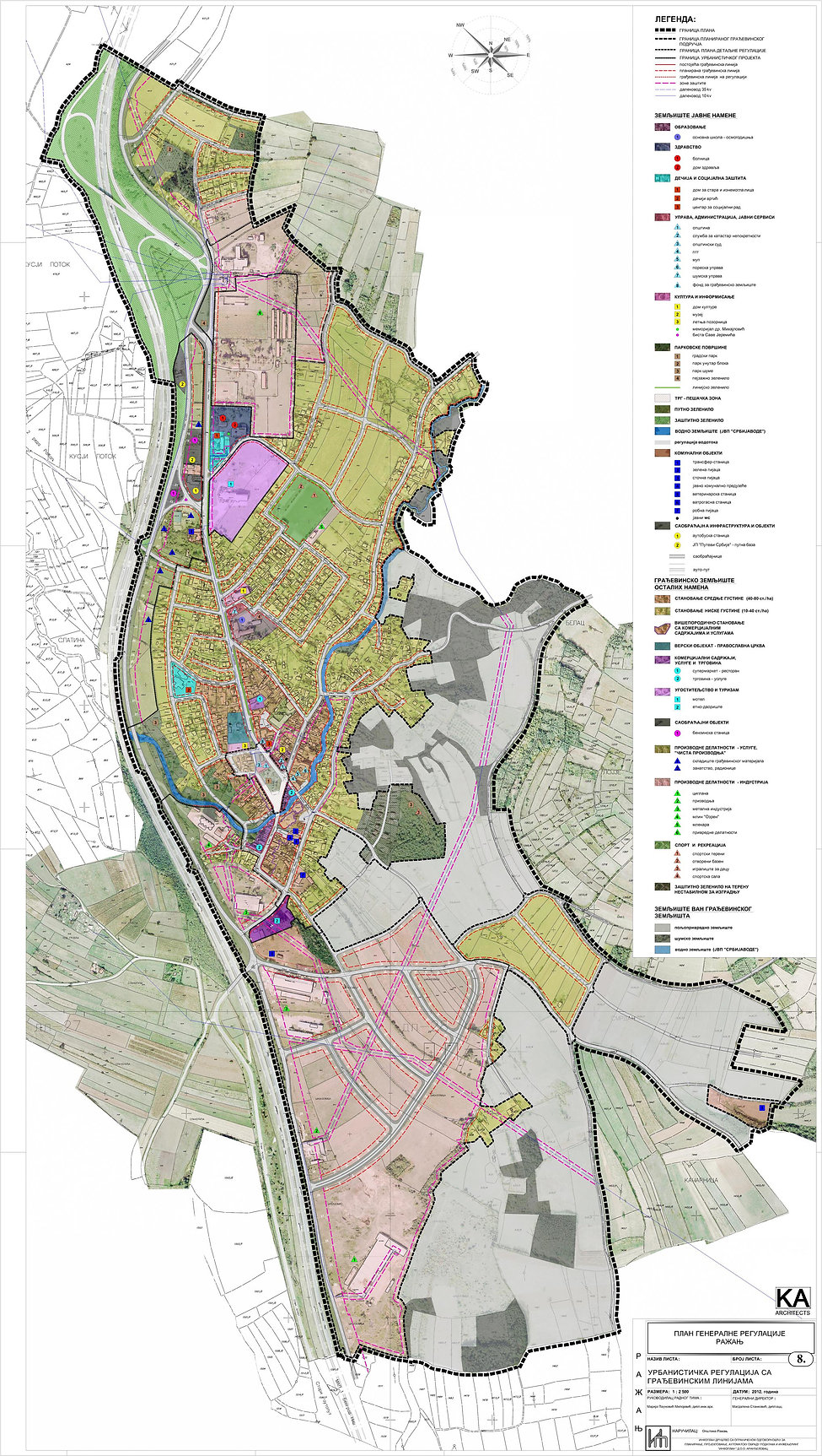 Razanj, Serbia spatial planning
