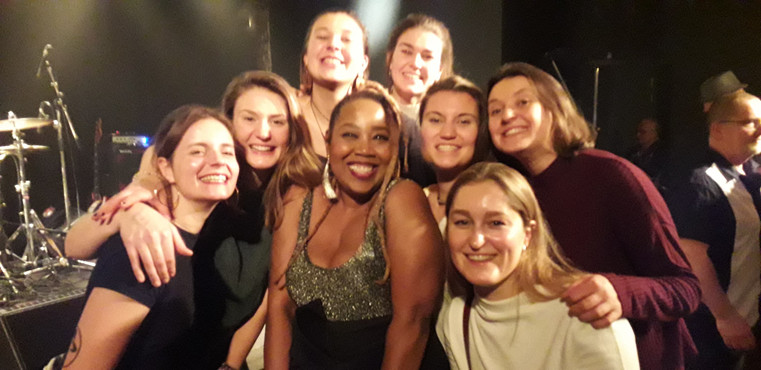 Students from Leuven come to hear Sugar Queen LIVE