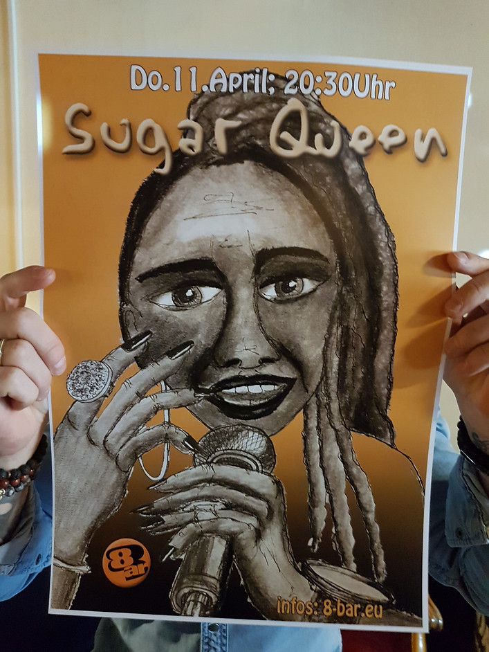 Sugar Queen Poster at Bar 8 in Switzerland
