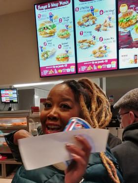 Queenie has to get KFC in Germany!