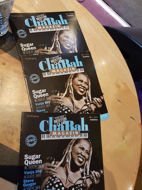 Sugar is on the cover of Chabah's Music Magazine!