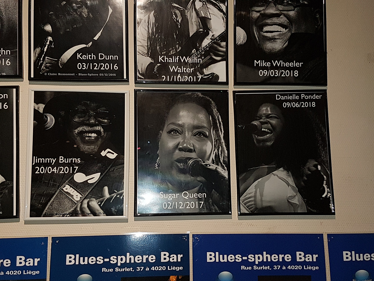 "Sugar joins the prestige ""Wall of Blues"" at BluesSphere in Liege, Belgium"