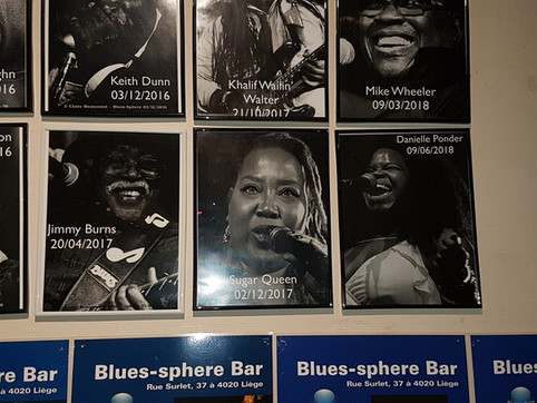 """Sugar joins the prestige """"Wall of Blues"""" at BluesSphere in Liege, Belgium"""