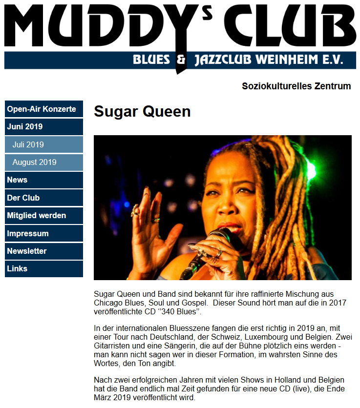 Sugar Queen at Muddy's Club