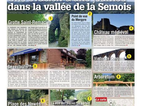 (press)  Direction la vallée de la Semois pour cette cinquième balade de l'été