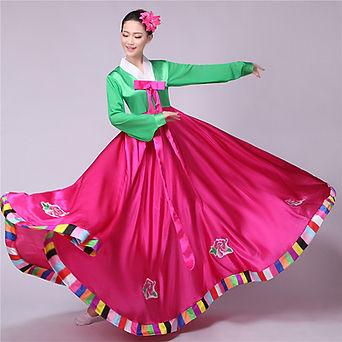 Traditionnel-cor-en-robe-hanbok-cor-en-c
