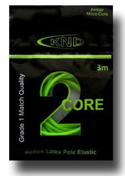 2 Core Green Hollow Pole Elastic Size 12-15