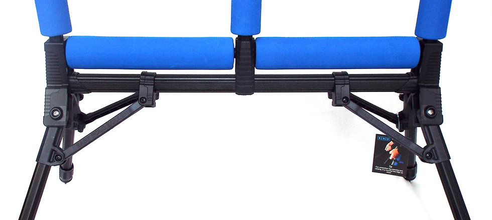 Large 3 Upright Blue Pole Roller with Black Metal Finish