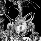 """""""Crimes Of The Eyes""""  Cover art for """"Anxiety"""", book series, by Padma Thornlyre  Pen and ink ©David Allen Reed 2018"""