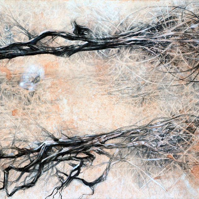 """""""What Was Lost Shall Return"""" 2014 graphite, acrylic and watercolor ©David Allen Reed"""