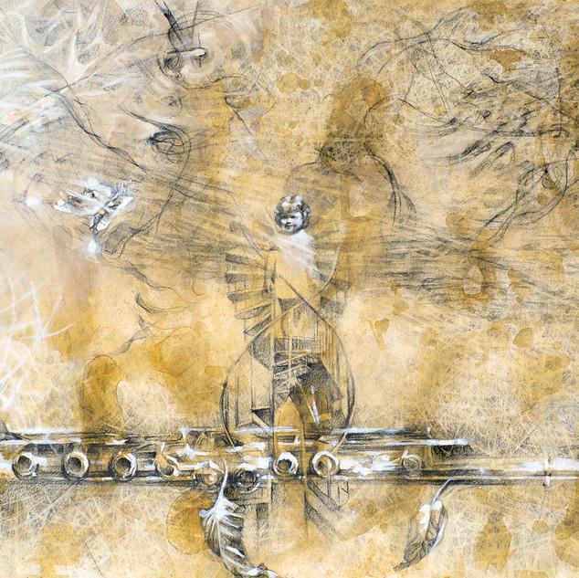 """Sonata of Genevieve "" 2014 Acrylic and Graphite ©David Allen Reed"