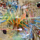 """Improvised Cosmology"" Acrylic on canvas 2018 ©David Allen Reed"