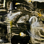 """Rachmaninoff"" 2012 Monotype and oil pastel ""Hubris"" 2011 Oil on panel ©David Allen Reed"