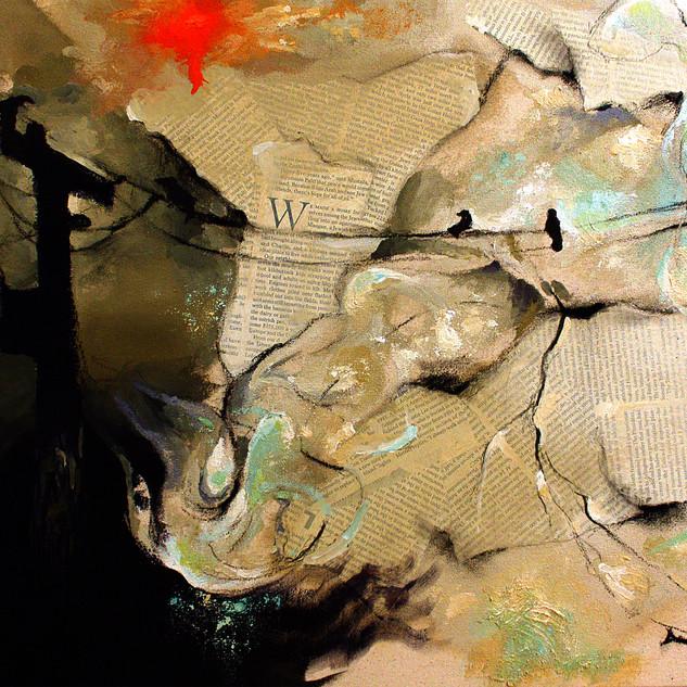 """Storm Fugue"" Acrylic and mixed media on canvas, 2011 ©David Allen Reed"