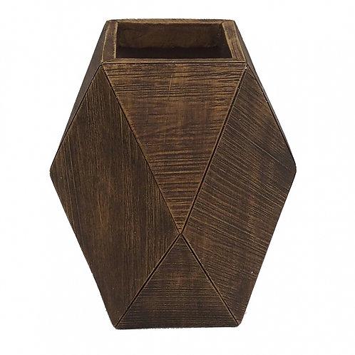 Vaso Decorativo De Resina Marrom P
