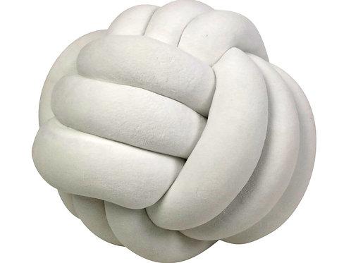Almofada Nó De Veludo Branca