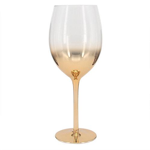 Conj. De Taças Para Vinho Branco Vidro Degrade Dourado