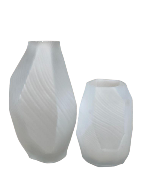 Vaso Decorativo em Vidro Branco G