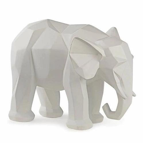 Elefante em Poliresina Branco G