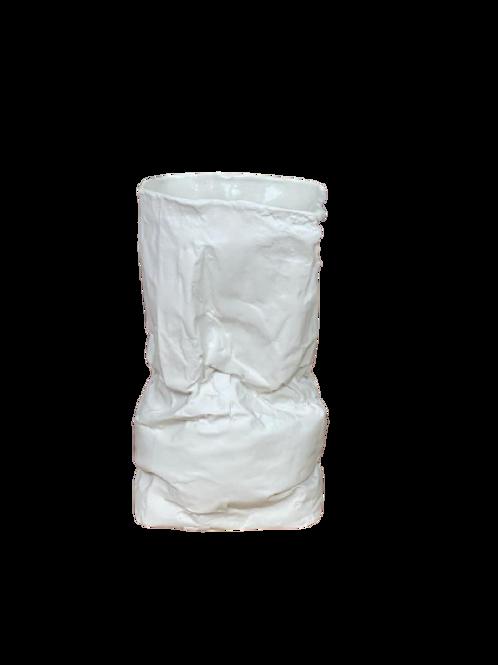 Vaso Saco de Papel Porcelana Branco Fosco