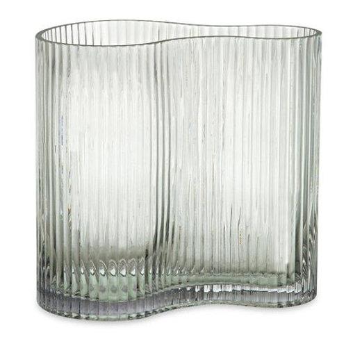 Vaso Em Vidro Transparente  M