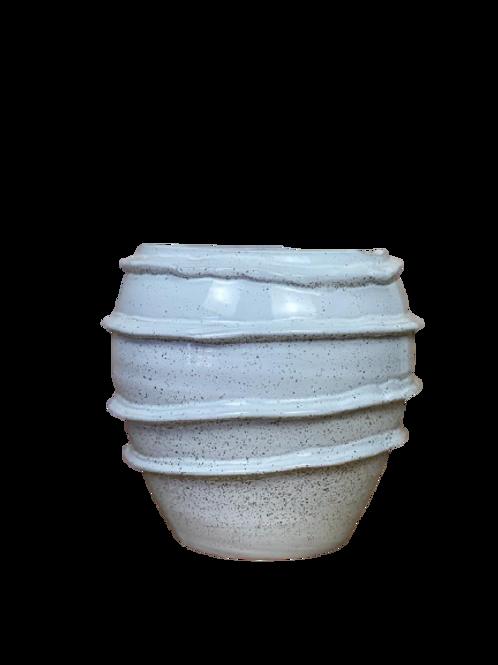 Vaso Decor em Cerâmica Dourado P